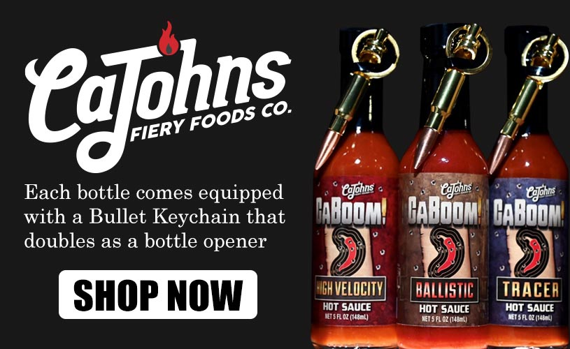 New CaBoom Hot Sauces with bullet keychains